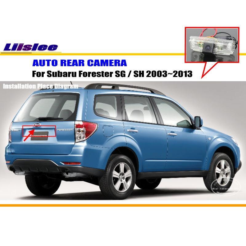 Liislee заднего вида Камера для Subaru Forester SG/SH 2003~ 2013/Обратный Камера/CCD RCA NTST PAL/поворотника CAM