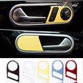 Интерьер автомобиля Ручка Двери Отделка Chrome Декоры Наклейки Дверная Ручка Рамка Крышка Аксессуары для Volkswagen New Beetle Стайлинга Автомобилей