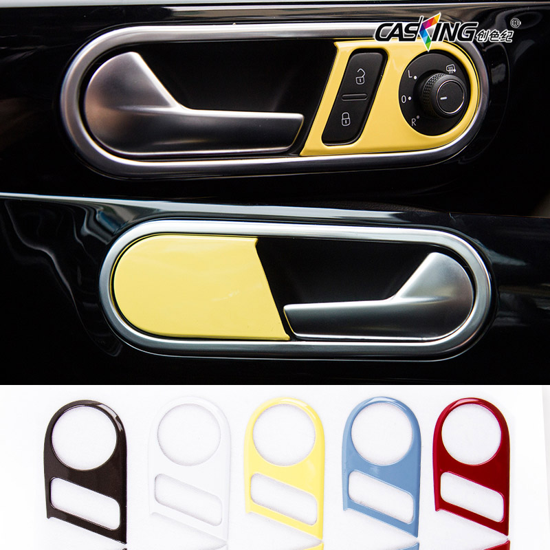 car interior door handle trim chrome decors stickers door handle frame cover accessories for. Black Bedroom Furniture Sets. Home Design Ideas