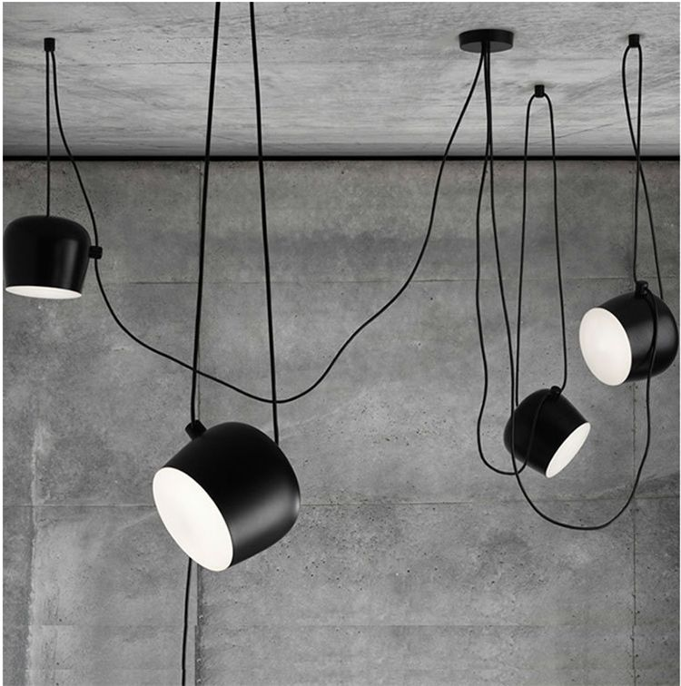 Lampshde Iron Modern Hanging Lamps E27 220v For Decor Indoor Home/office  Suspension Luminaire Black/white Fashion Pendant Light In Pendant Lights  From ...