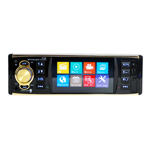 Image 2 - 4019b1Din 12 볼트 4.1 인치 라디오 튜너 BT MP4/MP5 차량 플레이어 MP5 다기능 플레이어 BT MP3 플레이어