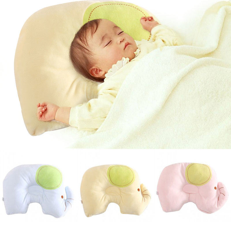 Infant Small Elephant Shaped Pillow Baby Shaping Pillow Soft Head Positioner Anti-roll Over Neck Protection Sleep Bedding