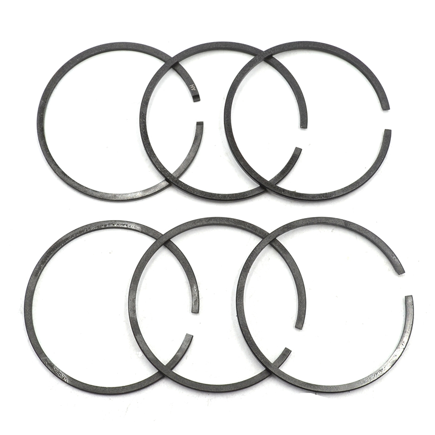 6PCS 40mm Piston Ring Kit For HUSQVARNA 41 141 142 Chainsaw # 530029982 38mm engine housing cylinder piston crankcase kit fit husqvarna 137 142 chaisnaw
