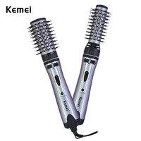 Kemei KM 8020 2 In 1 Professional Hair Dryer Hot Brush Rotating Curler Hair Dryer Machine