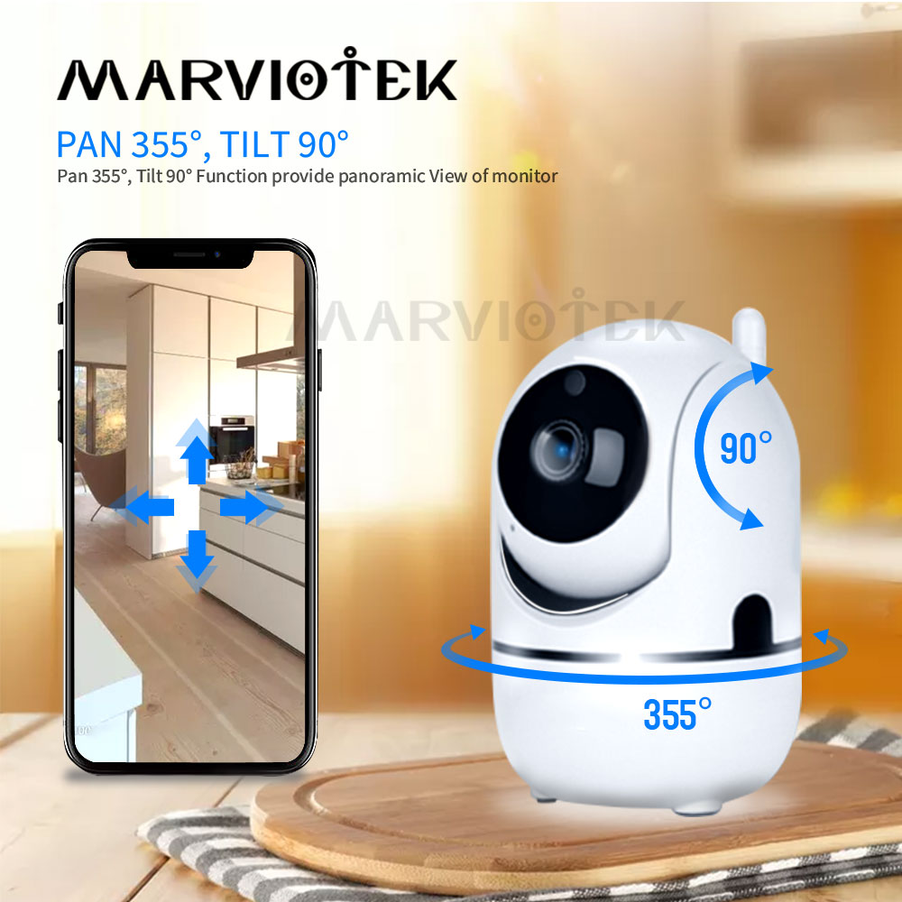 MARVIOTEK 1080P Full HD Wireless IP Camera CCTV Camera Mini
