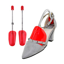 1 Pair Plastic Shoe Tree  Shoes Stretcher Shaper Spring Loaded for Women Shoes lhbl 1 pair 12 1 2 inch boot stretcher shaper shoe tree with handle