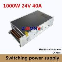 Small Volume Single Output 1000W Switching Power Supply 24V 40A Transformer AC110V or 220V TO DC SMPS for LED Light CNC Stepper