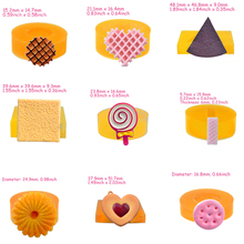 PRZY Silicone Mold 9 Styles Mini Biscuit Waffle Wafer Fondant Mould Clay Molds Sugarcraft Candy Chocolate Resin Rubber