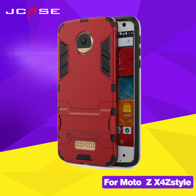 reputable site 1ae69 2a21c US $4.04 19% OFF Fashion 2 in1 Phone Case For Motorola X4 Hard shell Armor  phone 360 Degree Protection Kickstand Cell Phone Case for moto x4-in ...