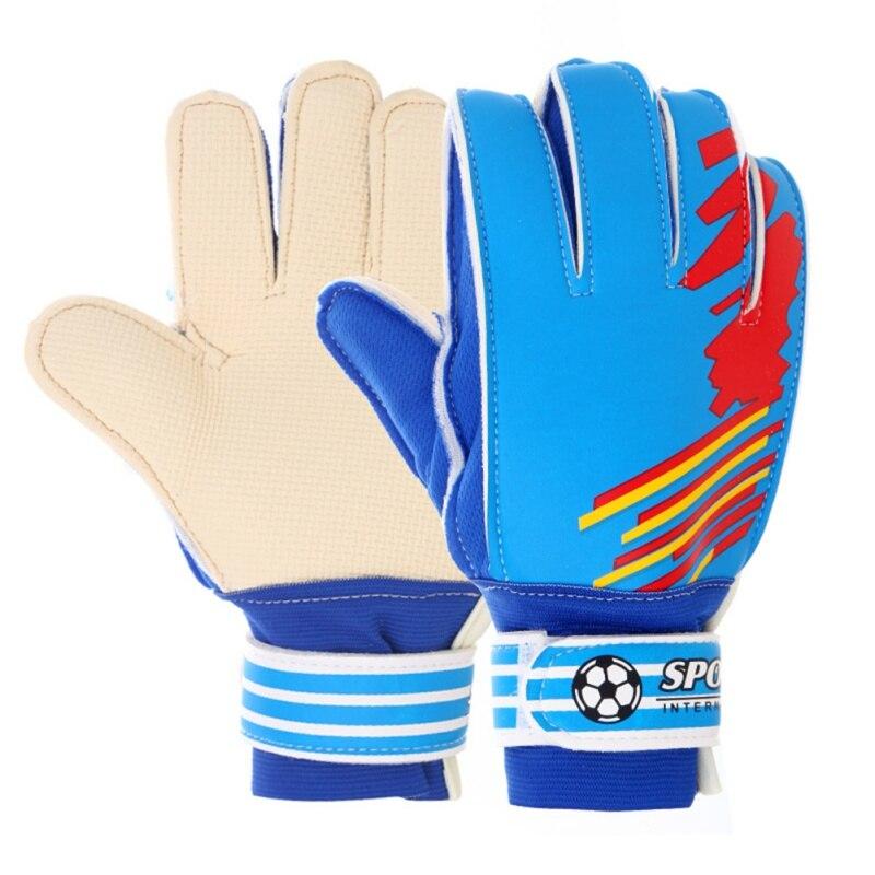 Entry-Level Children Kid Football Goalkeeper Gloves Football Anti-Slip Finger Embossed Gloves