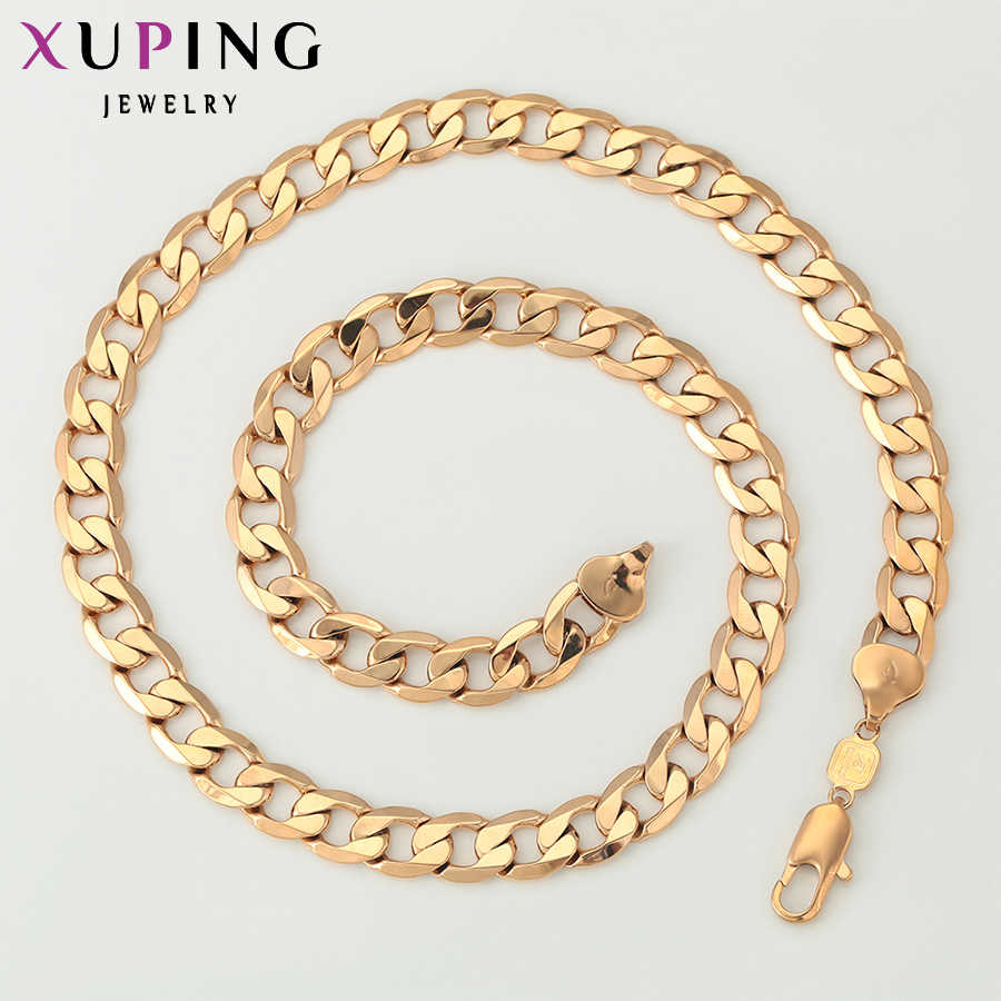 Xuping Fashion Necklace New Design Big Long Necklace Gold Color Plated Necklace Women Men Chain Jewelry Top Sale 42212 Designer Jewelry Fashion Jewelryjewelry Design Aliexpress