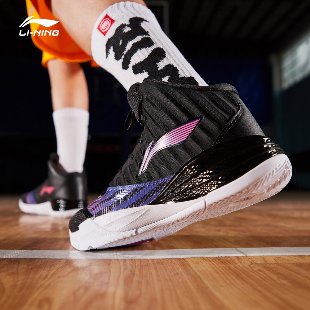 Li Ning Men On Court Basketball Shoes Cushion Bounce LiNing CLOUD TUFF RB Wearable Sport Shoes