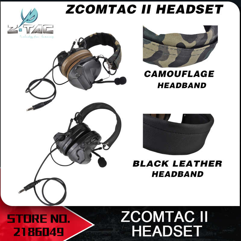 e806727561a Z tactical Comtac ii Headset Peltor Noise Canceling Hunting Headset  Aviation auricular airsoft Z041 BK Two
