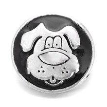 10Pcs/lot Wholesale 18mm Hot Sales Cute Dog Vintage Buttons Snap fit DIY Xinnver Snap Bracelets Jewelry ZA289
