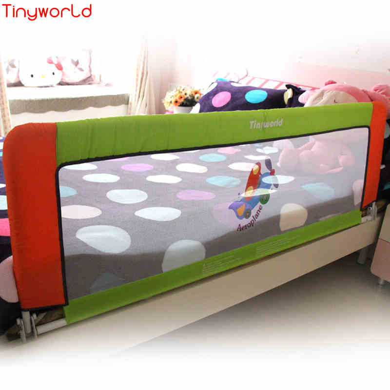 Tinyworld General Baby Bed Barrier, 1.5Meters Heightening Lovely Fashion Coffee Pink Guard