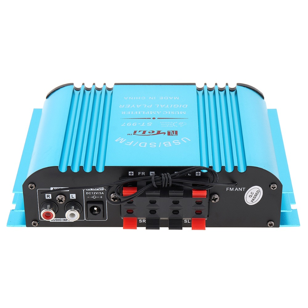 HIFI sound 4CH Car Audio Power Amplifier FM Radio Player Support SD USB DVD MP3 with Remote Controller for Car Motorcycle Home
