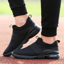 83f19c7e98 2018 Verão Malha Respirável Tênis Preto Mens Moda Confortável Sapatos  Casuais Ao Ar Livre Masculino Passeio