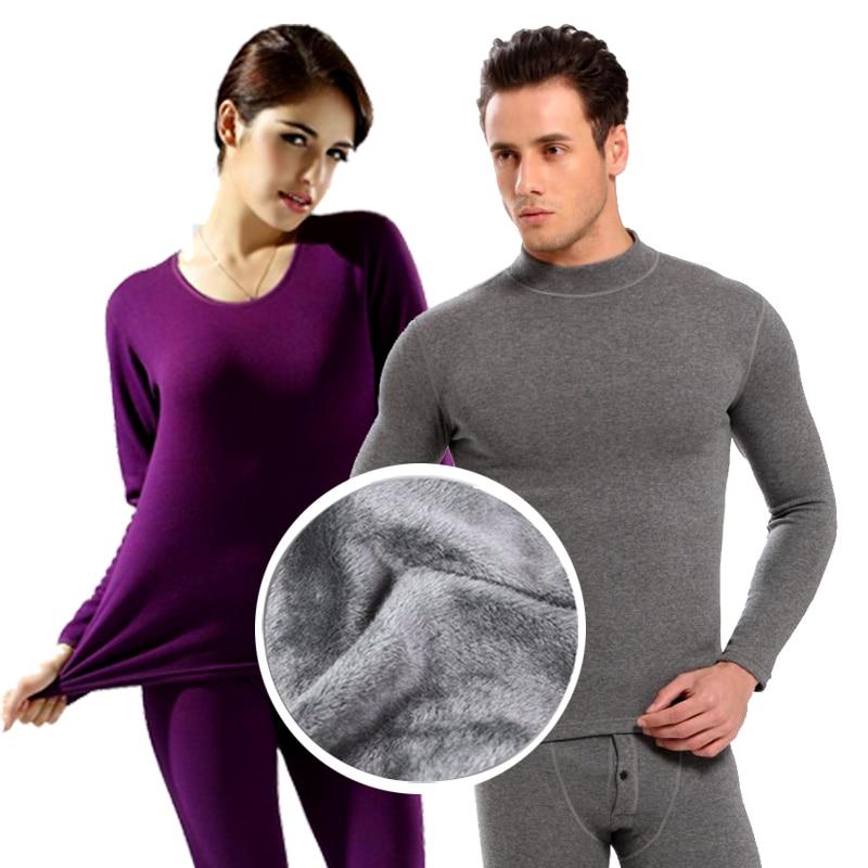 2018 new women thermal underwear women's long johns Autumn winter underwear sets female shirt+pants thick warm plus velvet-in Long Johns from Underwear & Sleepwears
