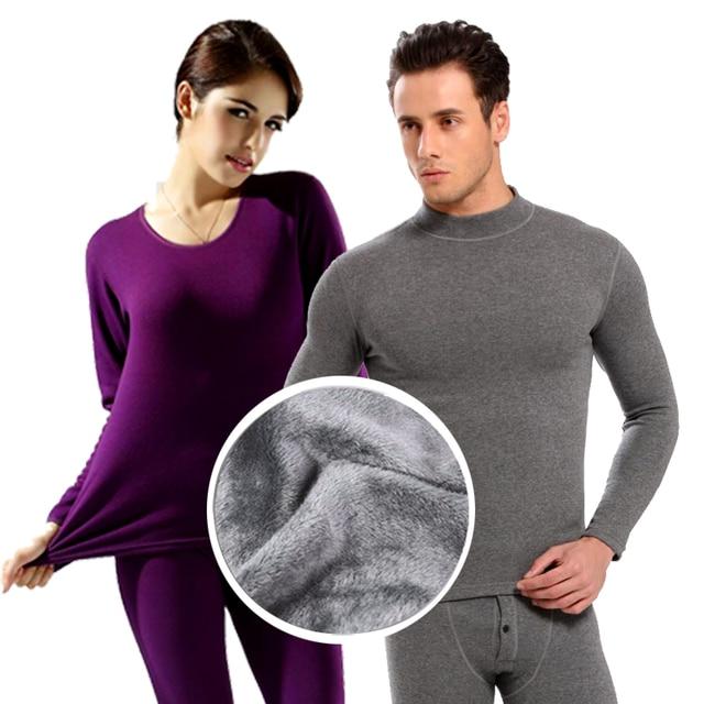 2018 חדש נשים תרמית תחתוני נשים של תחתונים ארוכים סתיו חורף תחתוני סטים נשי חולצה + מכנסיים עבה חם בתוספת קטיפה