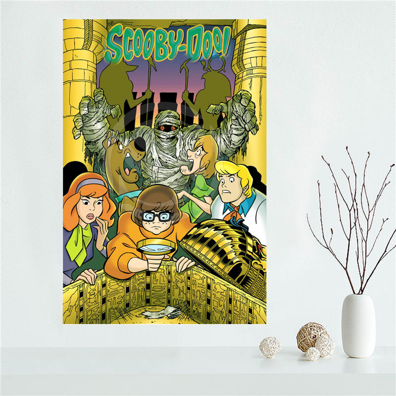 Y530L22 Custom scooby doo Dog Canvas Painting Wall Silk Poster cloth ...