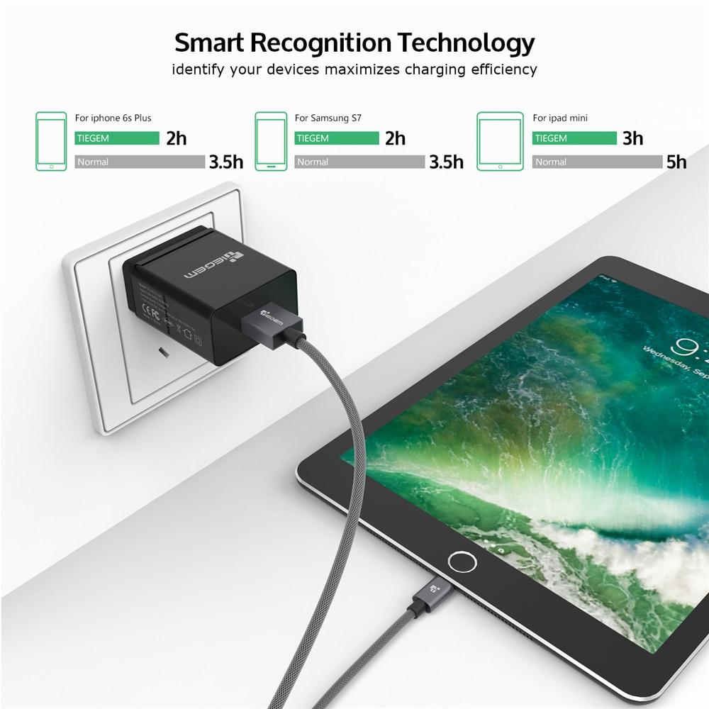 TIEGEM արագ լիցքավորում 3.0 USB պատի - Բջջային հեռախոսի պարագաներ և պահեստամասեր - Լուսանկար 4