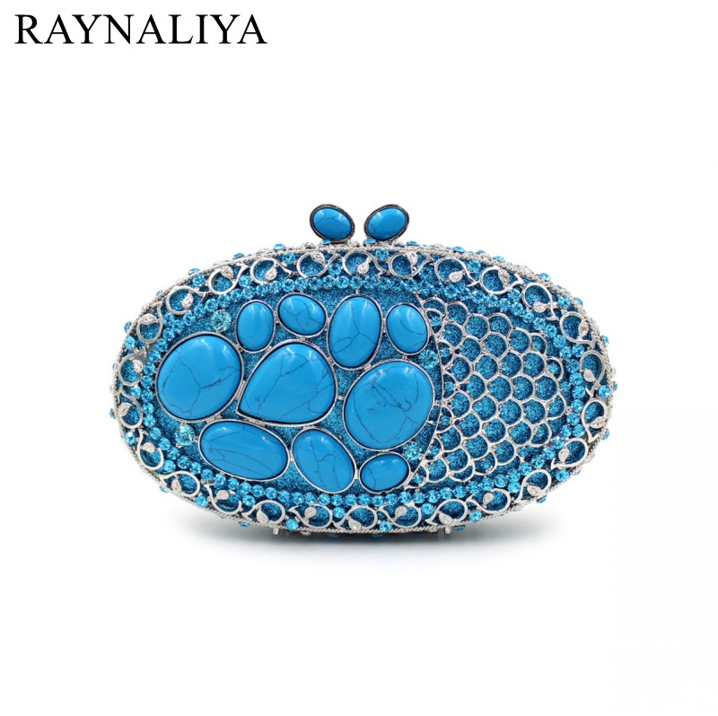 Luxury Crystal Red High Grade Diamond Evening Bags Day Clutches Banquet Handbag Wedding Prom Hollow Blue Handbags Smyzh-e0069 luxury real new arrival day clutches diamonds flower women bag banquet crystal handbag wedding party handbags night clubs purse