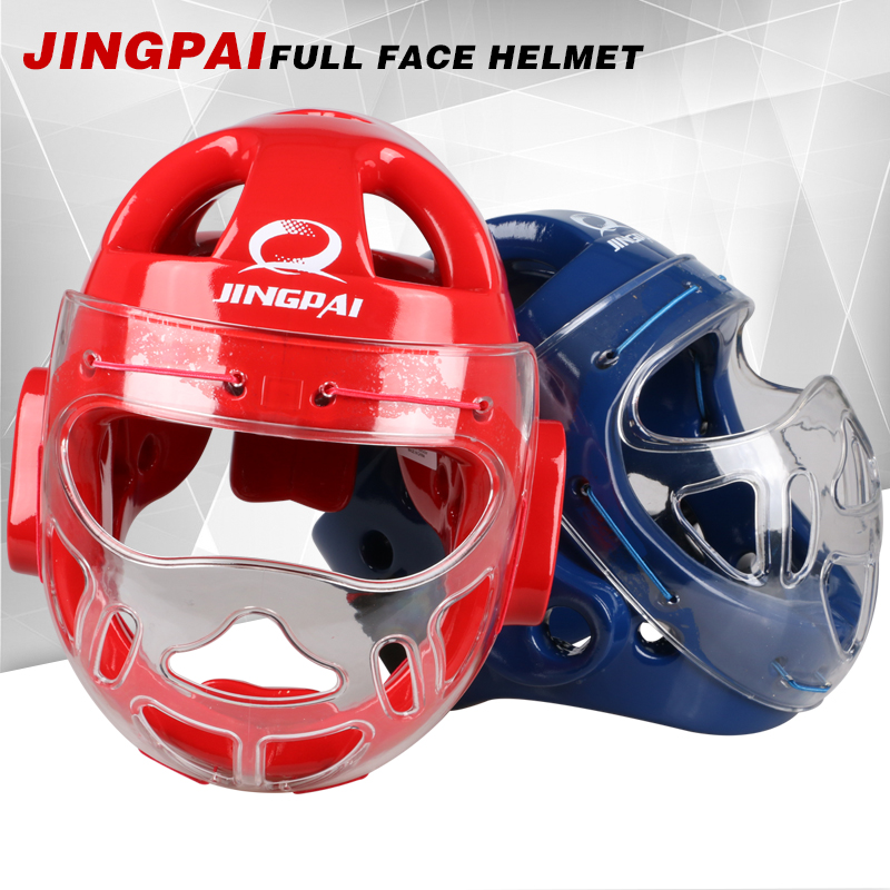 2016new 1x Closed Type Boxing Helmet Head Protector for Taekwondo Karate Tai Kick Competition training fighting face mask helmet mooto taekwondo helmet mma karate muay thai kick training helmet boxing head guard protector headgear sanda protection red blue