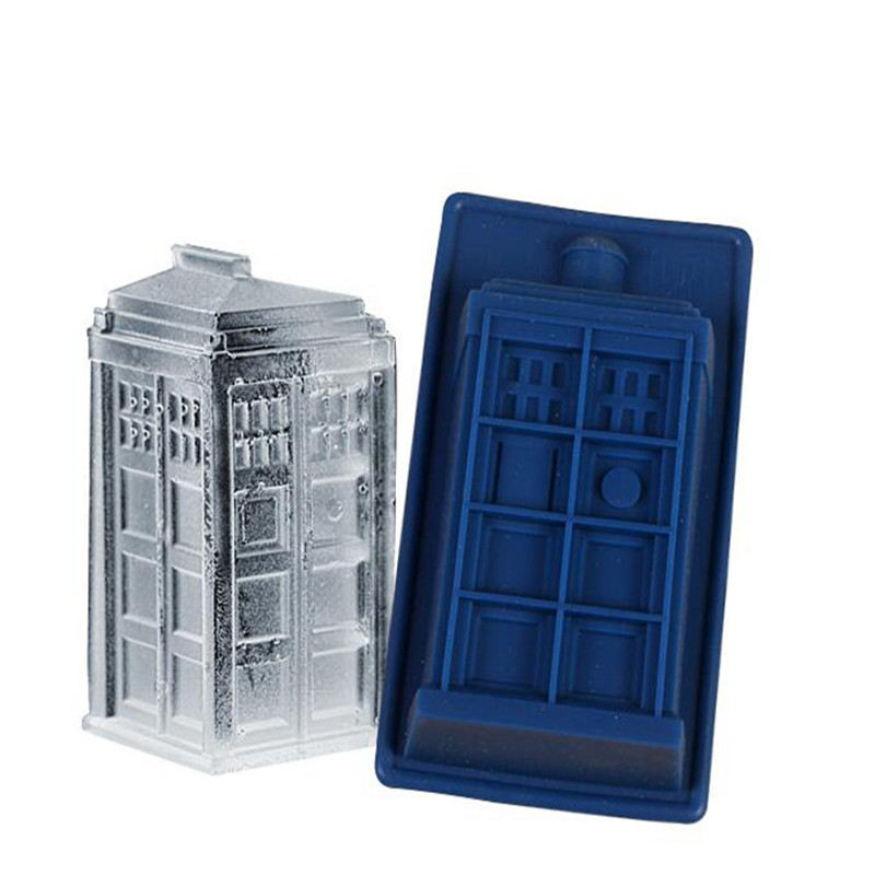 Doctor Who Dalek & Tardis Silicone Mould Ice Tray Candy Ice Cube Tray Chocolate Fondant Candy Jello Mold DIY Baking Cake Tools