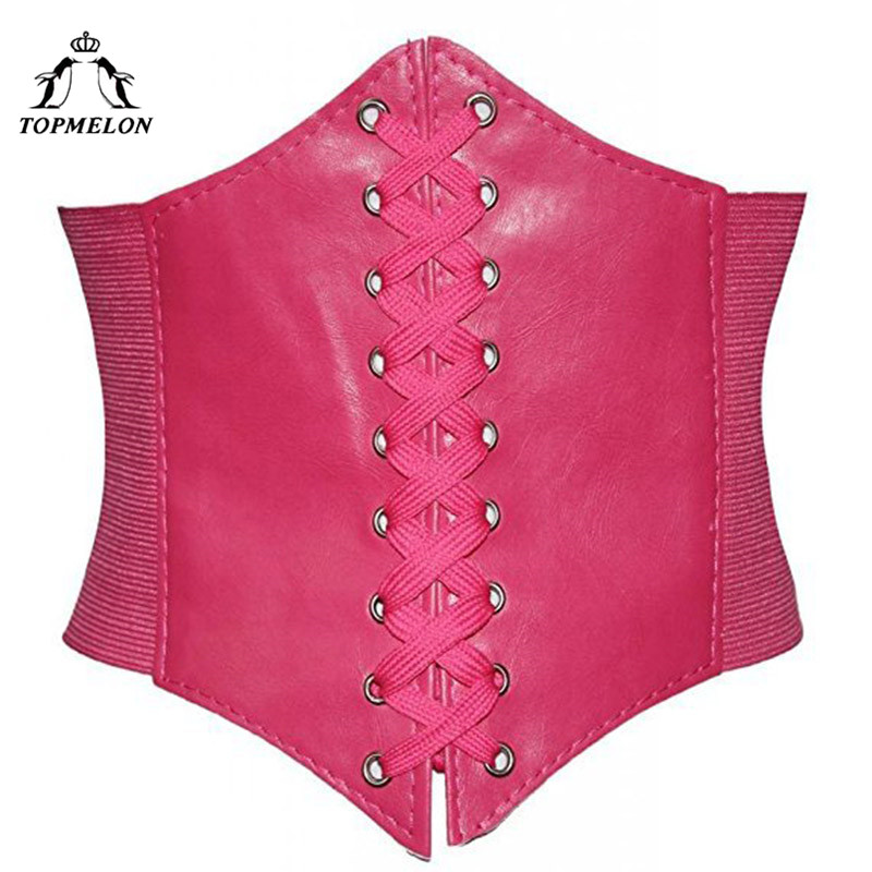 TOPMELON Underbust   Corset   Belly Slimming Belt Sheath Steampunk   Bustier   Gothic   Corset   Women Corselet Sexy Retro Lace Up   Corset