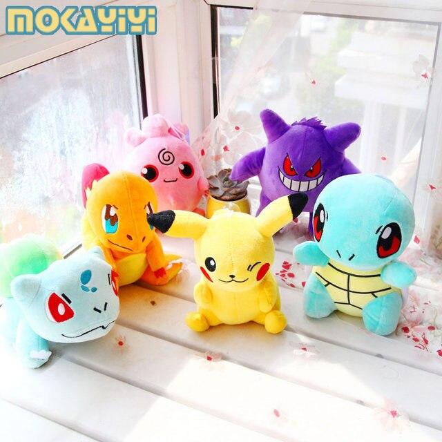 20CM Pikachu Bulbasaur Gengar Plush toys for children Gift Soft Toy Kawaii Cute Cartoon Toys Pocket Monster Anime
