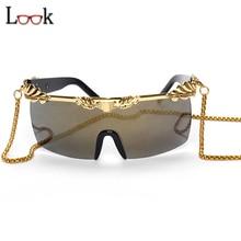 New de la manera 2017 gafas de sol de las mujeres diseñador de la marca de personalidad steampunk gafas de gran tamaño gafas de sol de espejo gafas de sol mujer