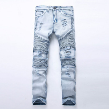 Washed Ripped Men's Hip Hop Jeans
