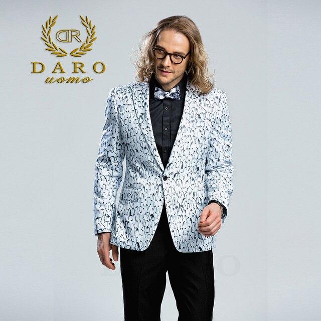Daro 2018 Manner Gedruckt Blazer Casual Slim Fit Anzug Jacke Manner