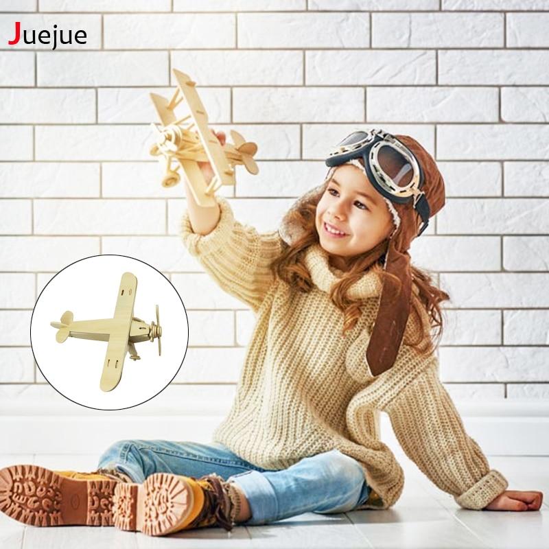Жаңа 1Pc ұшақтары Serial 3D Wooden Puzzle Vivid Wooden Model Puzzle Ойыншықтар Балаларға арналған Балалар Ойыншықтары