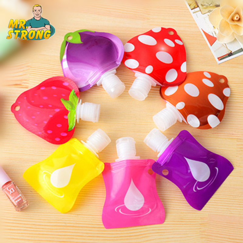 1pcs Lovely Travel Portable Mini Hand Sanitizer/Shampoo/Makeup Fluid Bottle Bathroom Products Packaging Bottles