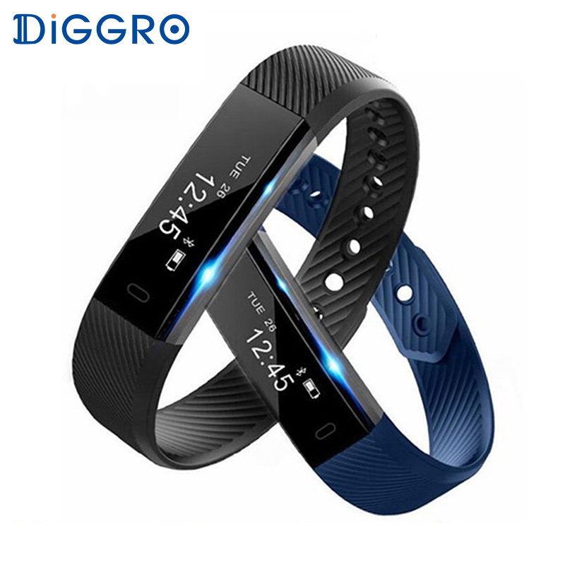 Diggro ID115 Smart Bracelet Bluetooth Android Pedometer Fitness Tracker Step Counter Smart Band Sleep Monitor Sport Wristband