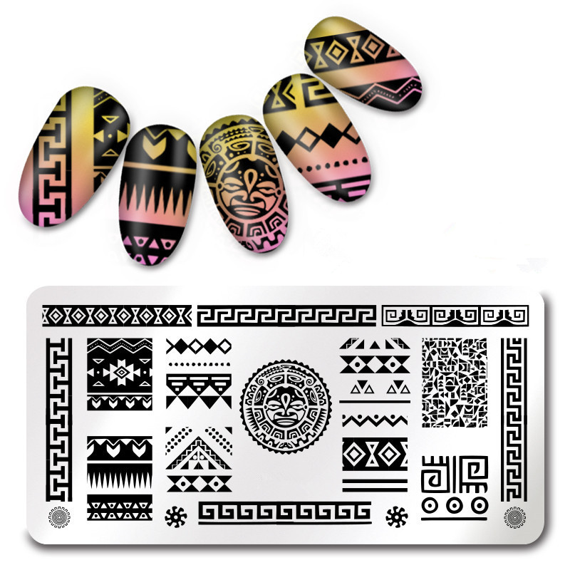 Nail Art Templates Beauty & Health 3pcs Rectangle Nail Art Stamp Template Tribal Design Image Plate Clear Jelly Silicone Nail Art Stamper Scraper With Cap