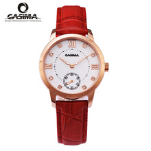 Marca CASIMA relojes mujeres moda casual luxury gracia vestido de dama reloj de cuarzo correa de cuero a prueba de agua #2606