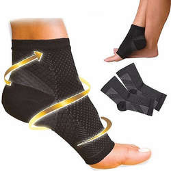 Новый сжатие ног ангела 1 ~ 4 рукавами подошвенный фасциит Анти-усталость (S/M/L/XL)