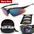Hombres Polarizadas Gafas de Sol 5 Lentes Gafas Gafas Fresco con Intercambiables 5 Lentes Marco Blanco