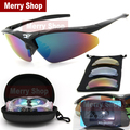 Men Polarized Glasses Sunglasses 5 Lenses Goggles Eyewear Cool with Exchangeable 5 Lens White Frame
