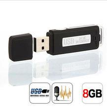 Бесплатная доставка 8 ГБ черный цифровой диктофон S долгое время записи устройства Высокочувствительный диктофон 08