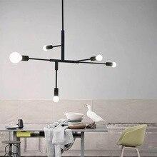 AC 220V retro modern LED chandelier simple gloss E27 indoor living room lighting kitchen restaurant chandelier lamps недорого