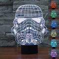 2016 Creative 3D Light Star Wars Clone Troopers Led Lamp Baby Night Light  Bedroom Lampe Deco Touch 7 Color Change Table Lamps