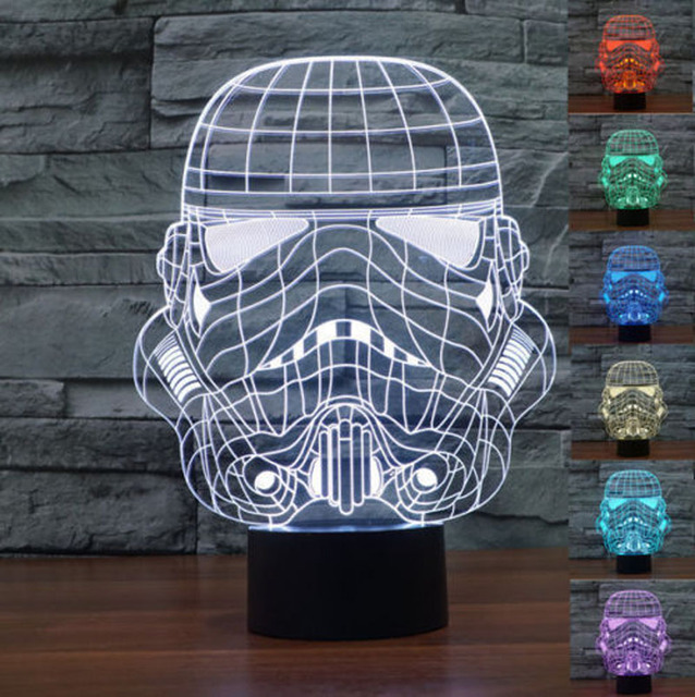 2016 creative 3d light star wars clone troopers led lamp baby night light bedroom lampe deco
