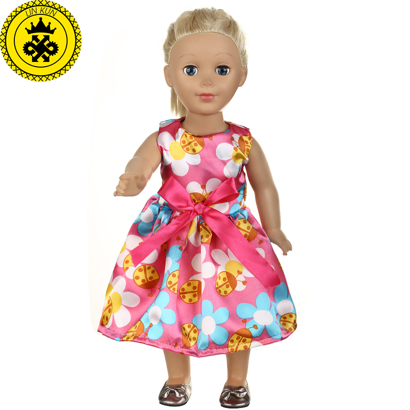 American Girl Doll Clothes 10 Colors Princess Dress Doll Clothes for 18 inch Dolls Accessories T528 american girl doll clothes superman and spider man cosplay costume doll clothes for 18 inch dolls baby doll accessories d 3