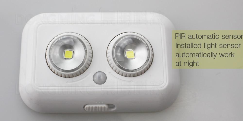 50 stks draadloze led pir infrarood bewegingssensor inductie