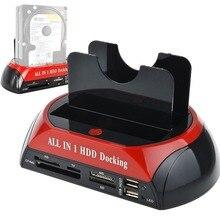 2,5/3,5 дюйма IDE+ SATA жесткий диск база многофункциональный жесткий диск Док-станция высокая скорость с кардридером светодиодный светильник HDD база