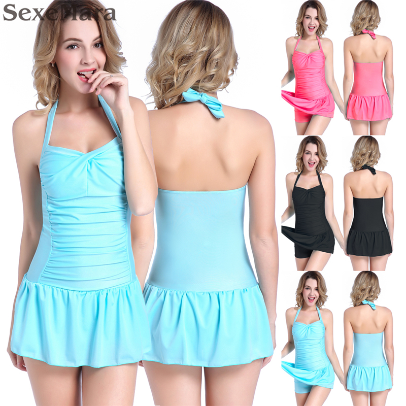 Korea japanese Sweety One Piece Modest Swimwear Push Up Swimsuit for Small Breast Women Slim Fit Cover Belly Plus Size Swimsuit brief candy color lace up one piece swimwear for women