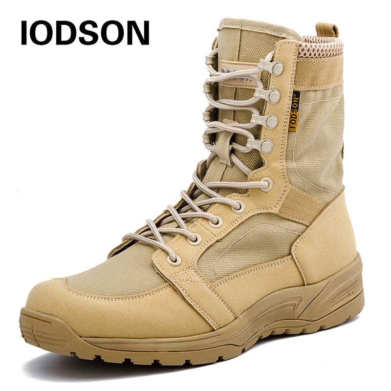 Fashion Army Boots Men Military Boots Tactical Combat Boots  Waterproof Summer/Winter Desert Boots Size 35-46 IDS658